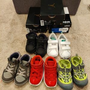 Bundle of toddler boys shoes
